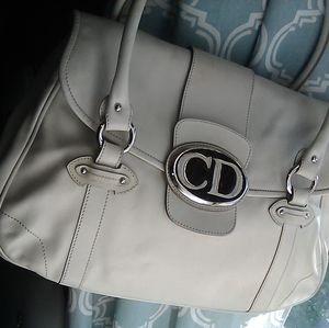 Dior CD shoulder bag in winter white